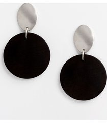 maurices womens black wood drop earrings