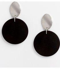 maurices womens black wood drop earrings