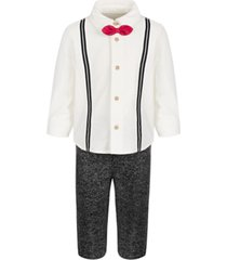 first impressions baby boys 2-piece bow tie dress shirt and pants set, created for macy's