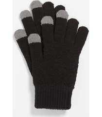 maurices womens black finger tech knit gloves