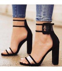 sandalias de tacón alto para mujer-negro