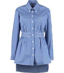 prada striped poplin shirt