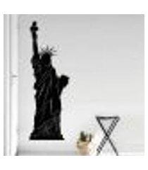 adesivo de parede estátua da liberdade silhueta - g 140x50cm