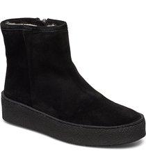 warm lining 5831 shoes boots ankle boots ankle boots flat heel svart billi bi