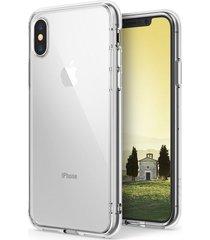 estuche protector ringke fusion iphone x  -  transparente