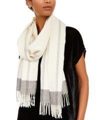 eileen fisher printed fringe-trim scarf