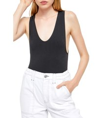 women's bdg urban outfitters markie bodysuit, size large - black