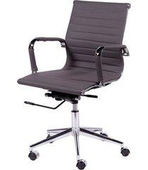 cadeira de escritório esteirinha baixa - cinza