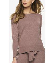 felina voyage textured sweater long tunic