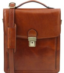 tuscany leather tl141424 david - borsello in pelle a tracolla - misura grande miele