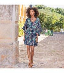 sundance catalog women's azul floral dress in midntflrl 2xl