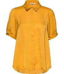 andrea 2/4 shirt blouses short-sleeved gul soft rebels