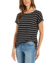 charter club linen striped top, created for macy's