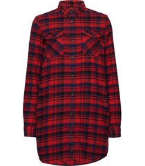 willow check shirt dress overhemd met lange mouwen rood superdry