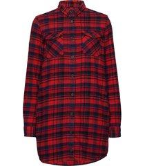 willow check shirt dress overhemd met lange mouwen rood superdry