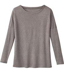 linnen jersey shirt, taupe 36/38