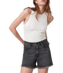 women's allsaints rae lace thong bodysuit, size 8 us - white