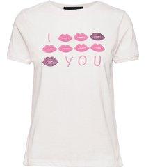 kiss t-shirt top creme missya