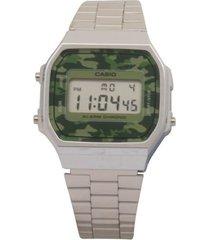 reloj casio a_168wec_3 plateado acero inoxidable