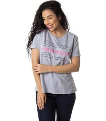 camiseta a jornada thiago brado 6027000004 cinza - cinza - pp - feminino