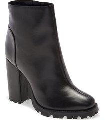women's schutz nandy platform bootie, size 9 m - black