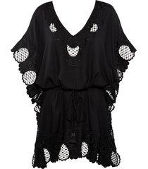 cache coeur kaftan |  black - one size