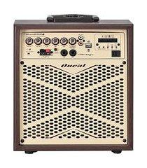 caixa amplificada vintage display led usb fm aux oneal ocm-4008 110w bivolt