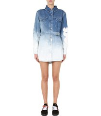 off-white denim dress