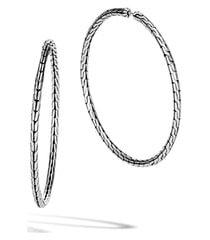women's john hardy classic chain large hoop earrings