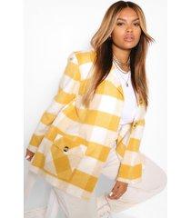 oversize flannel coat, mustard