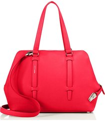cara small grained calfskin leather satchel
