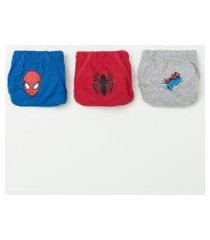 kit com 3 cuecas infantis homem aranha - tam 2 a 10 | homem aranha | sortido | 02