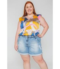 regata muscle estampada plus size - feminino