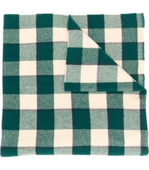 acne studios checked winter scarf - green