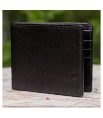 men's leather wallet, 'credit to black' (thailand)