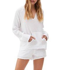 women's michael stars arlo hoodie, size x-small - white