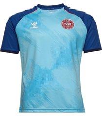 dbu 20/21 gk jersey s/s t-shirts football shirts blå hummel