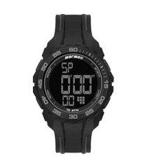 relógio digital mormaii masculino - mo18769ab8c preto