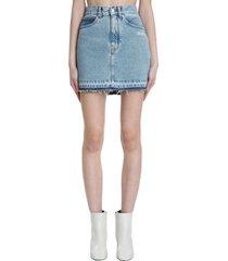 off-white skirt in blue denim
