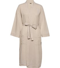 bathrobe linen blend l/xl morgonrock beige gripsholm