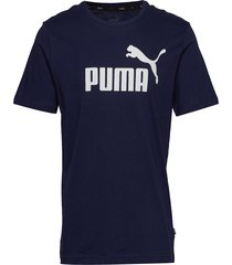 ess logo tee t-shirts short-sleeved blå puma