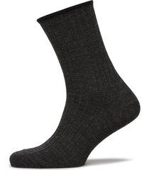 egtved, no elastic, rib, wool, underwear socks regular socks svart egtved