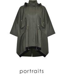 coat wide silk leather
