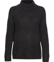 fxtiwarm 2 pullover stickad tröja svart fransa