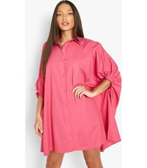 tall oversized blouse jurk met vleermuismouwen, hot pink