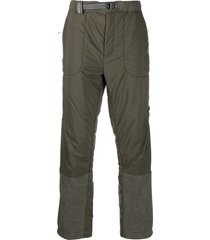 and wander panelled padded trousers - green