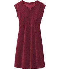 velours jurk, robijn 40