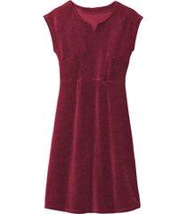 velours jurk, robijn 46