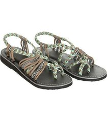 venda sandalias casual zapato abierto lindo color block flip-flops peep toe