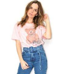 camiseta cz brand estampada urso feminino - feminino